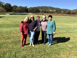 Primary school friends wine tour in Mudgee. Making memories - having fun - enjoying their day together at Bunnamagoo Estate.