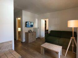 Dolomiten Suite, Wohnzimmer - soggiorno, Dolomiten Queen suite