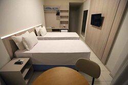 Apartamento duplo (duas camas de solteiro)