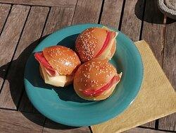 Mini sandwiches included in Ariadne's Breakfast.