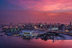 Savour majestic views of Dubai creek and city skyline