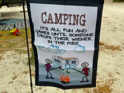 nice, clean sandy campsites