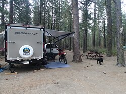 My favorite campsites are at the back of the park.