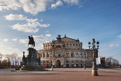 The Semperoper, the city's famous opera house.