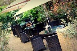 Beautiful private garden at the Holiday Inn London Kensington