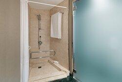 Standard Queen Accesible Bathroom - Roll-In Shower