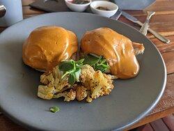 Delicious eggs benedictine at C-Grill
