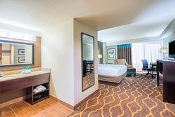 Relax in our quiet Queen Bedded room after your meeting