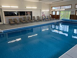 Indoor pool will soon be joined by an outdoor pool (ETA summer 2021)