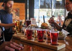 Cider flights of six ciders for $10