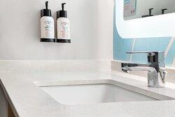 Refreshing bath amenities.