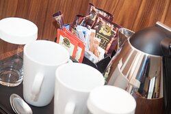 Coffee and tea making facilities available in all of the bedrooms