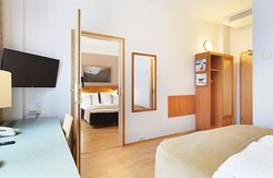If you wish to have more room space, ask for adjoining rooms.