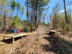 Grandmother Pine Tent Deck area
