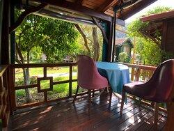 Balcony of bungalow