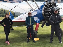 My awesome pilot and wingwalking guide :)