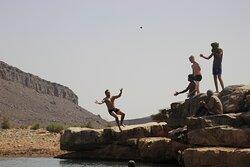 Lake iriki desert  swimming pool. Camel trekking with bivouac Les nomades departure from foum zguid