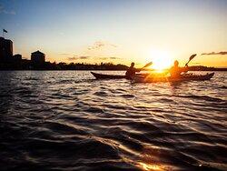 Sea kayaking evening tour around Vaxholm