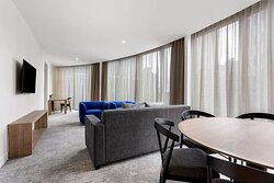 adina apartment hotel melbourne southbank two bedroom lounge room