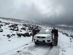 Driving up to Chimborazo Mountain!