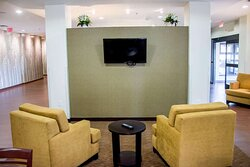 Lobby with flat screen tv