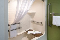 Accessible bathroom in guest room