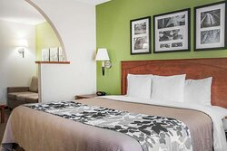 Artistically appointed guest room