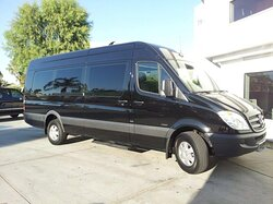 12 Passengers (9 with luggage) Mercedes Sprinter Van.