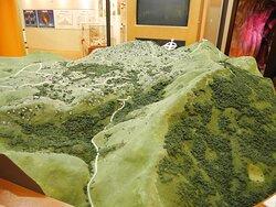内部展示の地形図