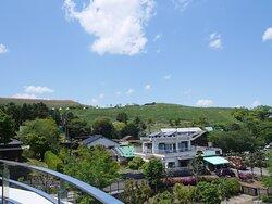 屋上展望台からの景色