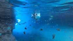Snorkeling at Thunder Ball Grotto
