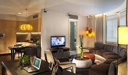 Living Room Of Finlayson Suite (1 Bedroom)