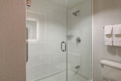Guest Bathroom Shower Available in Rooms with King Bed