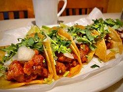 Pork tacos are super delicious.