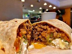 Steak burritos are the best in town.