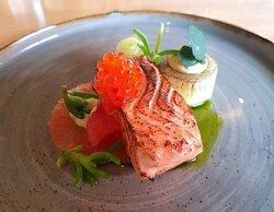 Confit salmon.