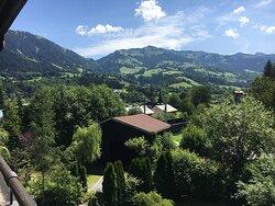 Blick vom Zimmer auf die Südberge - view from the room towards Bichlalm