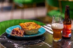 Brunch menu- pie and craft beer