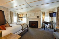 Bedroom with Gas Fireplace