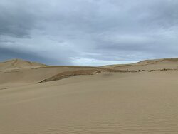 Beautiful spot to stop and have go at flying down the sand dunes