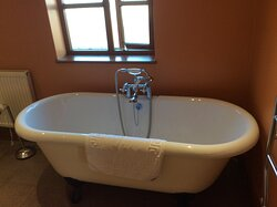 Roll top bath in holiday cottage