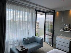 Chambre vue Tour Eiffel et balcon