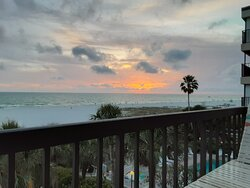 Sunset view from Gulf Gate Resort unit 303 in St Pete Beach