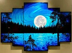 """""""Super Moon"""" 5 panel  Call (530)600-2838 Emil:megan@fineartofmetal.com"""