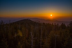 Sunset from Clingman's Dome: Great Smoky Mt Nat Park
