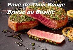 Pavé de Thon Rouge Braisé au Basilic Frais