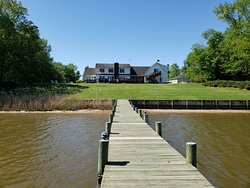 View of the house from the dock