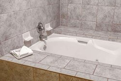 Spacious suite with whirlpool bathtub
