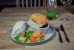 Some of our delicious food, the best Steak Pie around