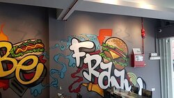 Graffiti to make up the cool vibes of our store ambience!